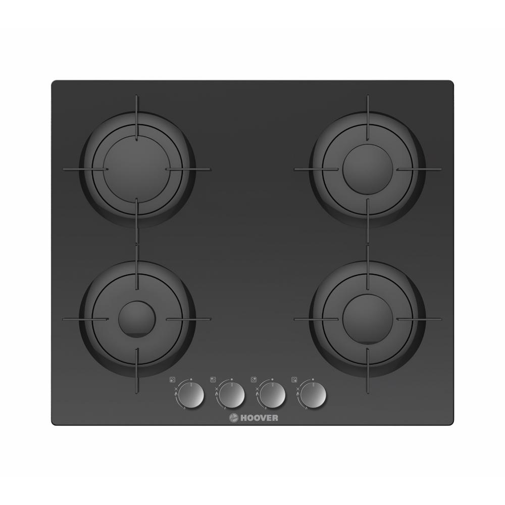 Image of 600mm 4 Burner Gas-on-Glass Hob Black
