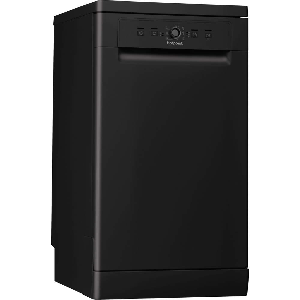 10-Place Slimline Dishwasher 6 Progs Class A+ Black