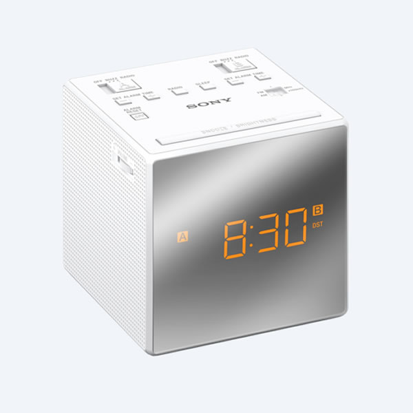 Cheapest price of 'Cube' Radio Alarm Clock FM/AM Tuner Dual Alarm White in new is £29.99