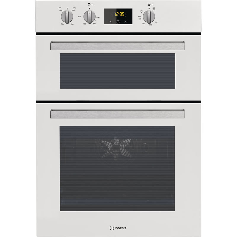 Built-in Double Electric Oven Fan Oven Twin Grill White