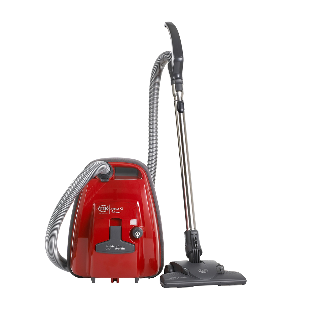 Image of 890Watts Cylinder Bagged Vacuum Cleaner 3.0litres Red