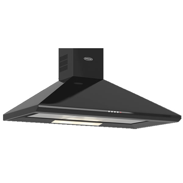 Image of 1000mm Wall Mount Cooker Hood 3-Speed Fan Black