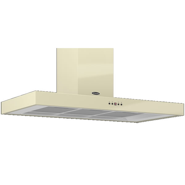 Image of 1000mm Wall Mount Cooker Hood 3-Speed Fan Cream
