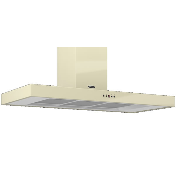 Image of 1100mm Wall Mount Cooker Hood 3-Speed Fan Cream