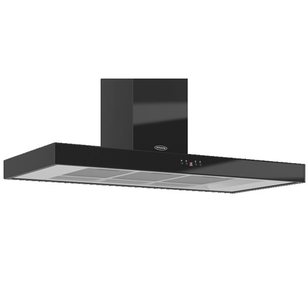 Image of 1100mm Wall Mount Cooker Hood 3-Speed Fan Black