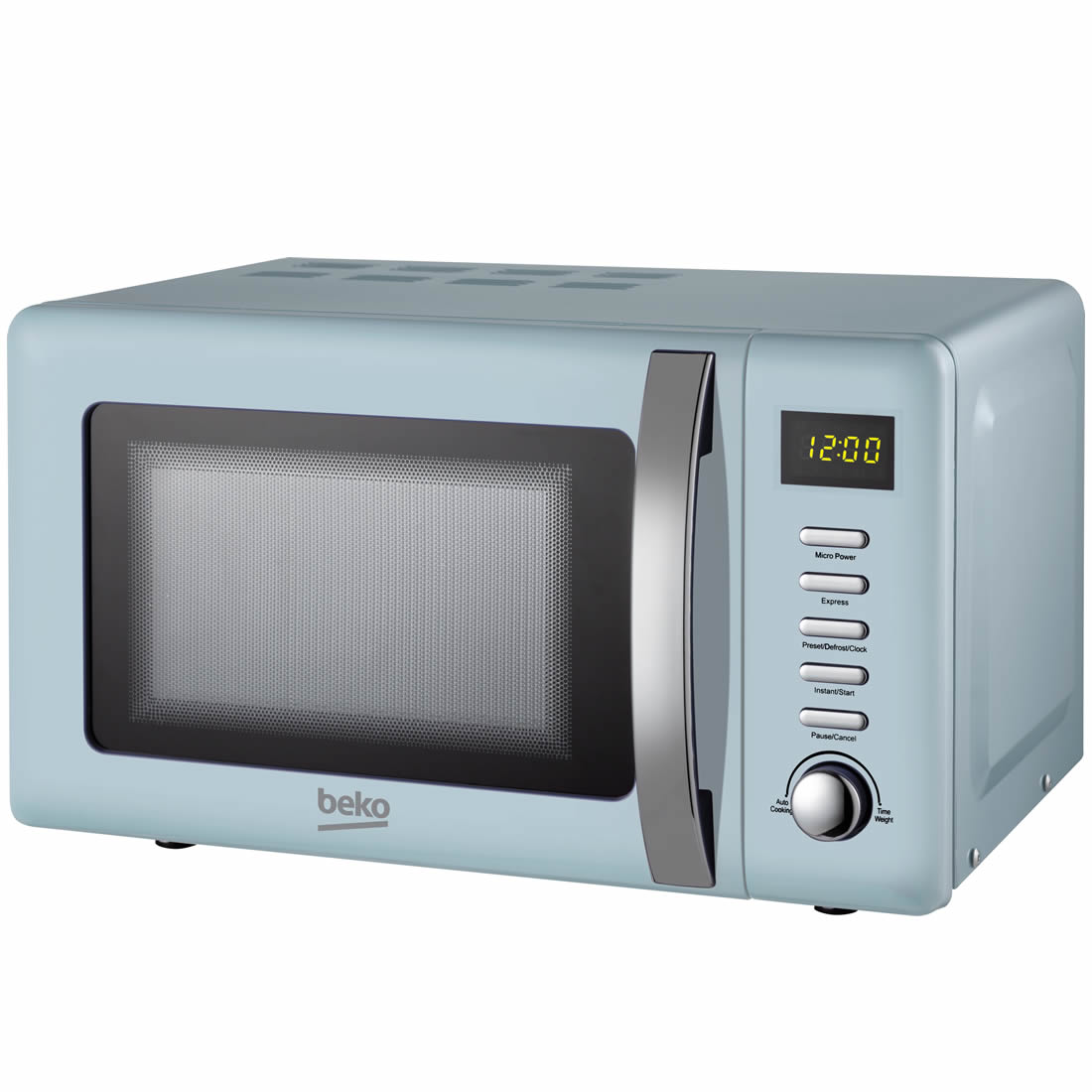 800Watts Microwave 20litres 5 Power Levels Blue
