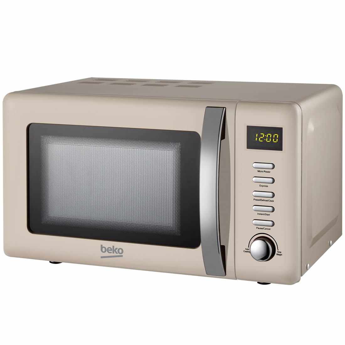 800Watts Microwave 20litres 5 Power Levels Cream