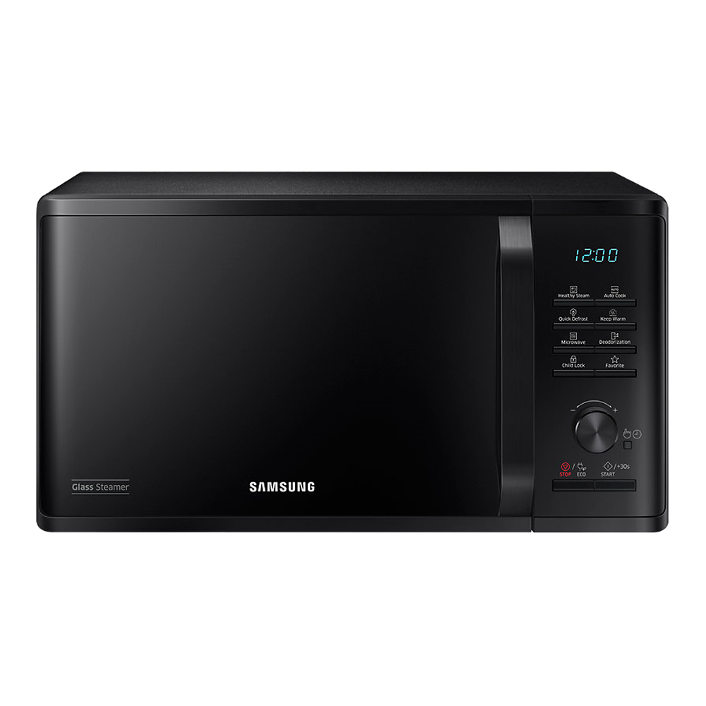 800Watts Compact Microwave Steam Function 23litre Black