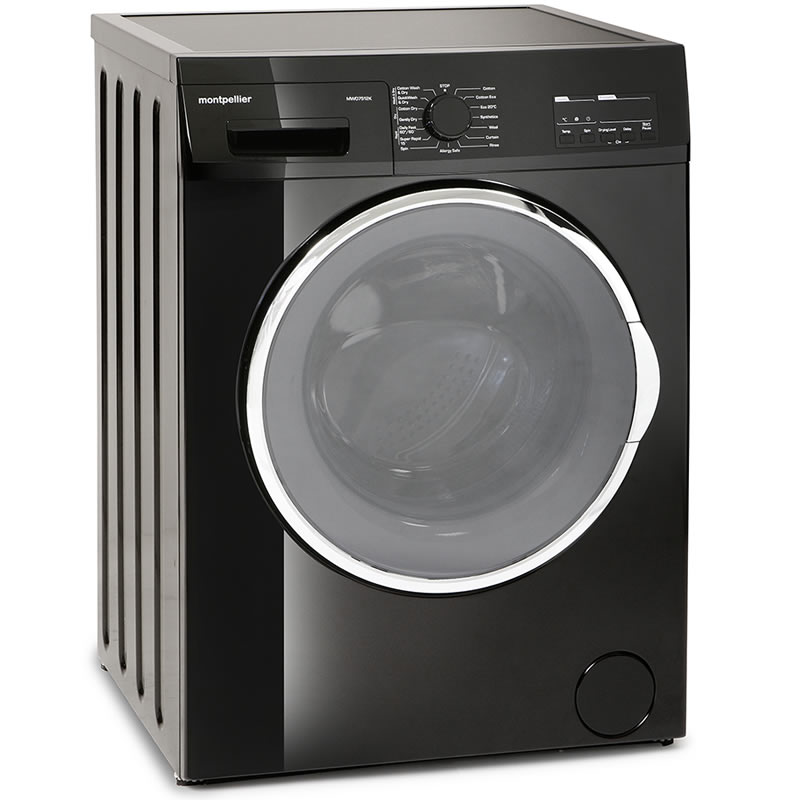 1200rpm Washer Dryer 7kg/5kg Load Class B Black