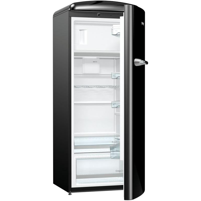 260litre RETRO Fridge Ice Box Class A+++ Black