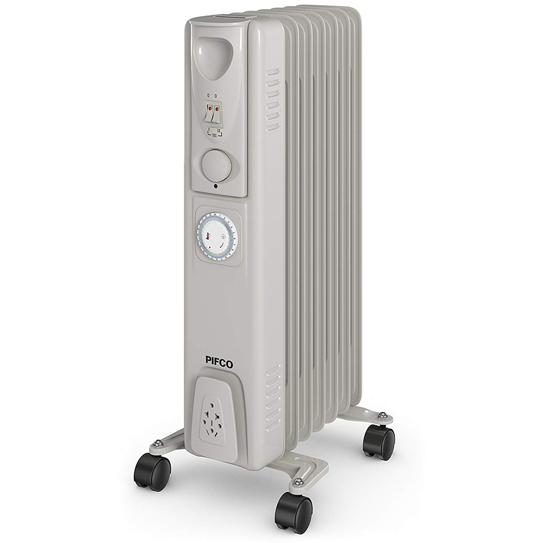 Cheapest price of 1.5kW Oil-Filled Radiator 3 Power Settings Timer White in new is £44.99