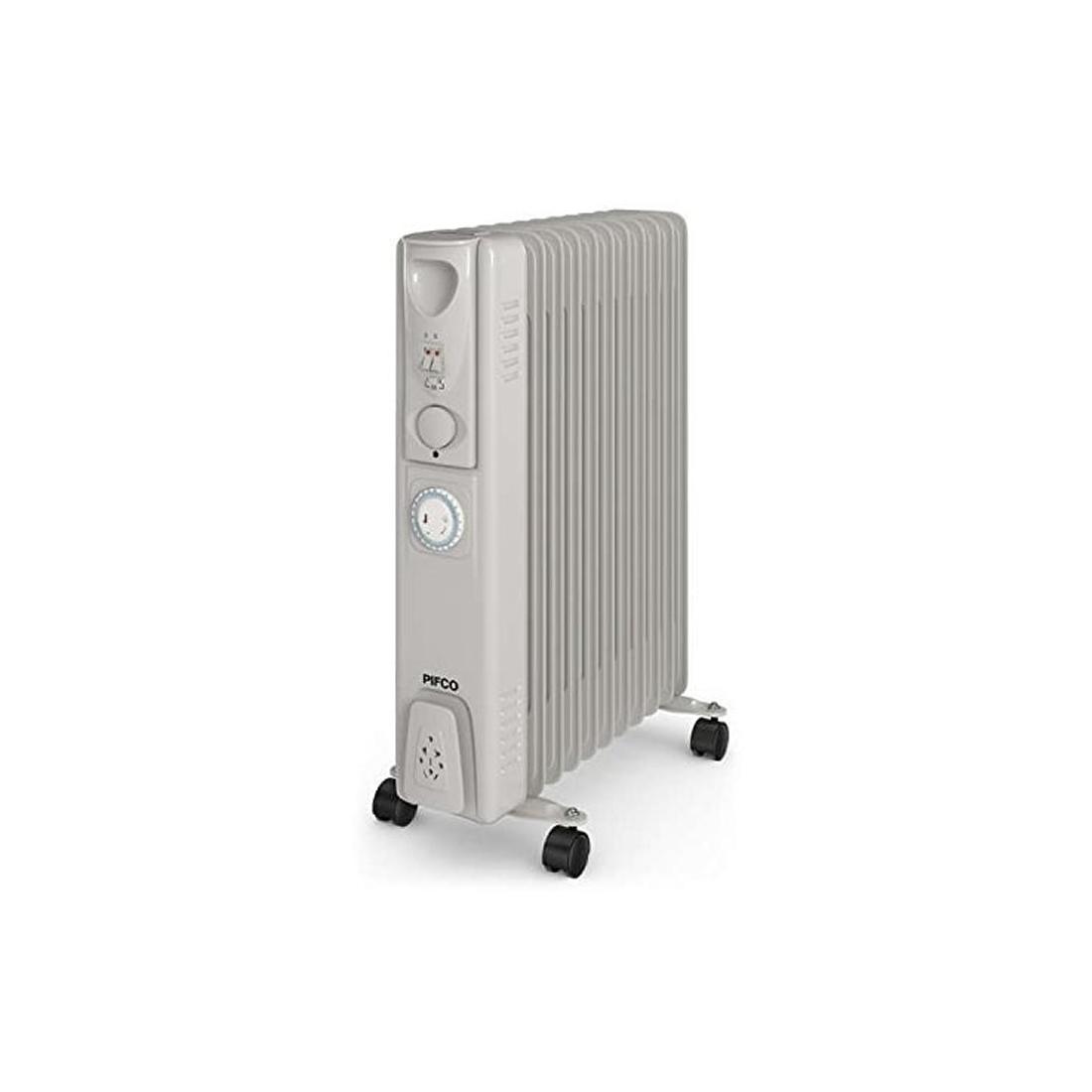 Image of 2.5kW Oil-Filled Radiator 3 Power Settings Timer White