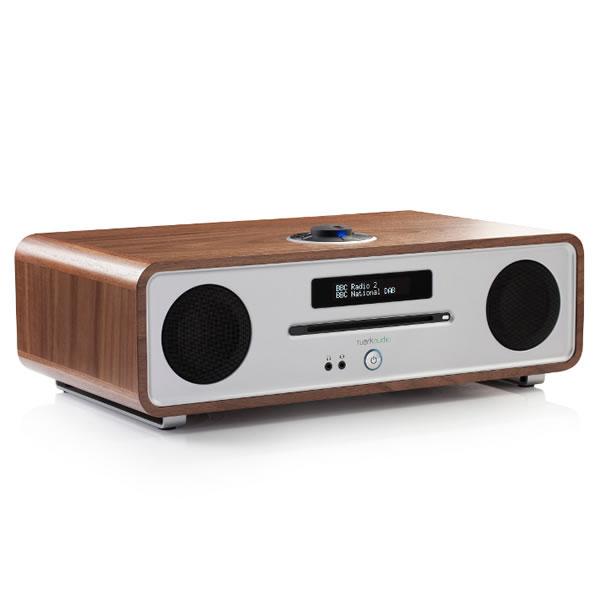 DAB Digital Radio & CD Player Bluetooth Walnut
