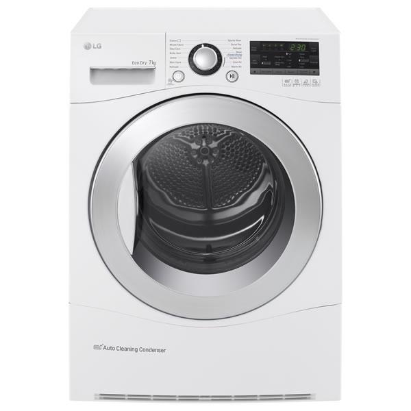 7kg Load Condenser Heat Pump Tumble Dryer 9 Progs White