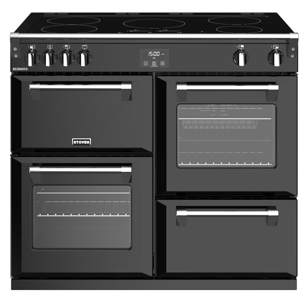 Compare retail prices of 1000mm Electric Range Cooker Induction Hob Black to get the best deal online