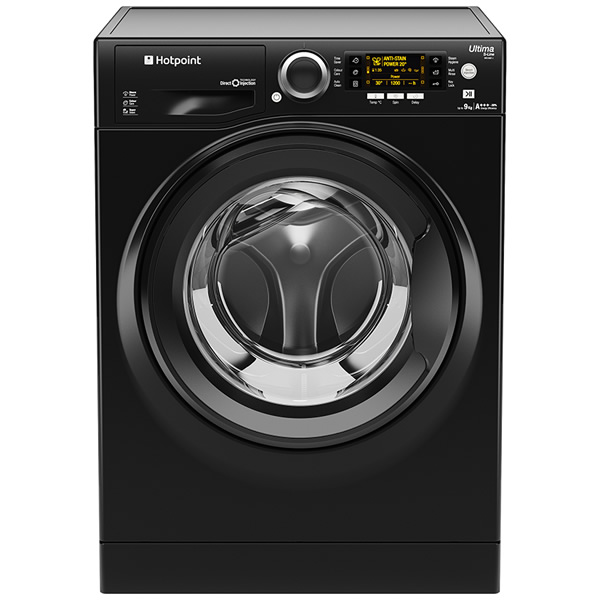 1400rpm Washing Machine 10kg Load Class A+++ Black