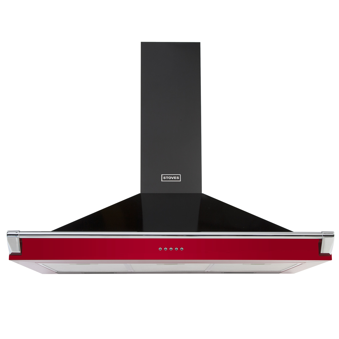Image of 1000mm Chimney Cooker Hood with Rail 3-Speed Fan