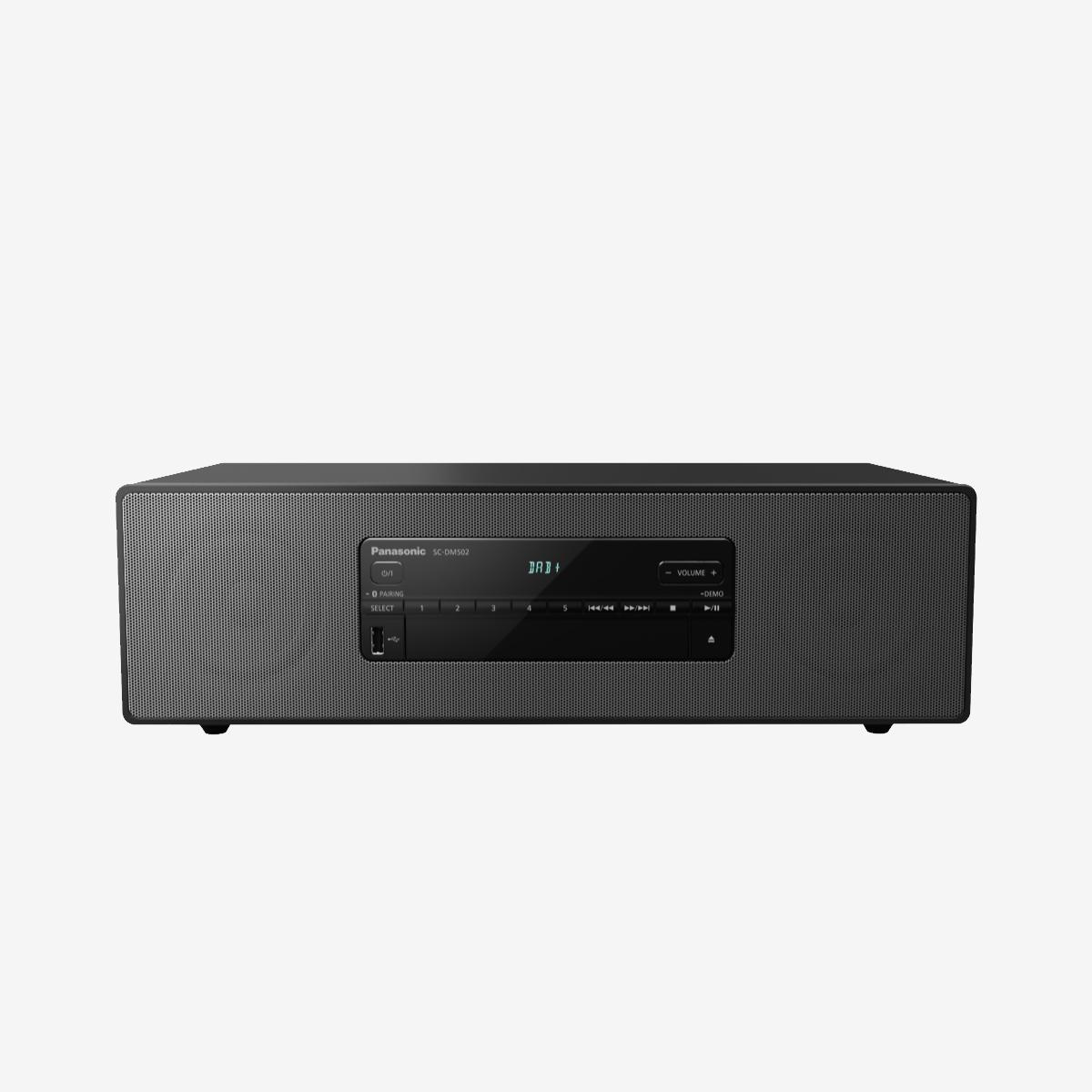 Panasonic SC DM502E K Premium Stereo System with Bluetooth CD Player D