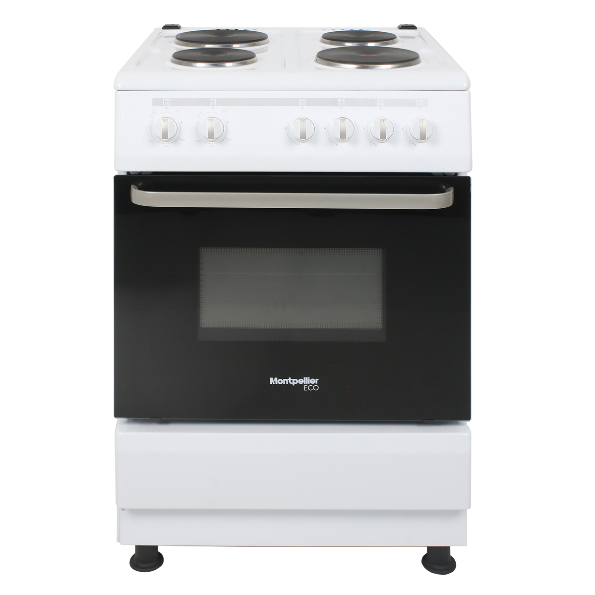 SCE60W-ECO 600mm Single Electric Oven & Grill Solid Plate Hob