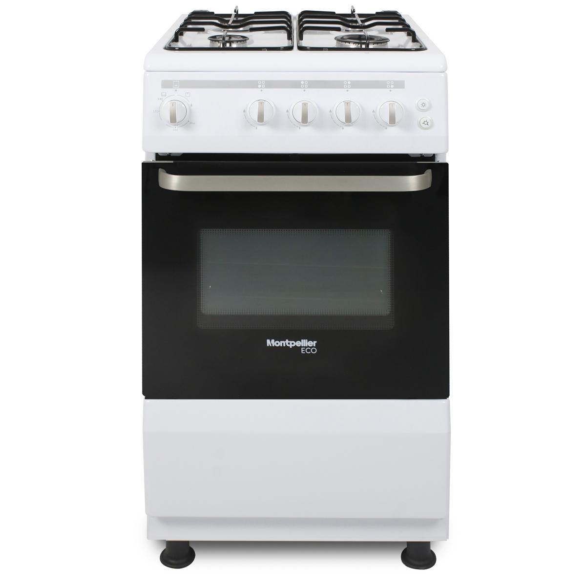 SCG50W-ECO 500mm Single Gas Oven & Grill 4-Burner Hob