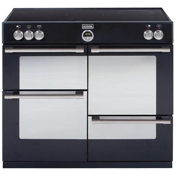 1000mm Electric Range Cooker Induction Hob Black