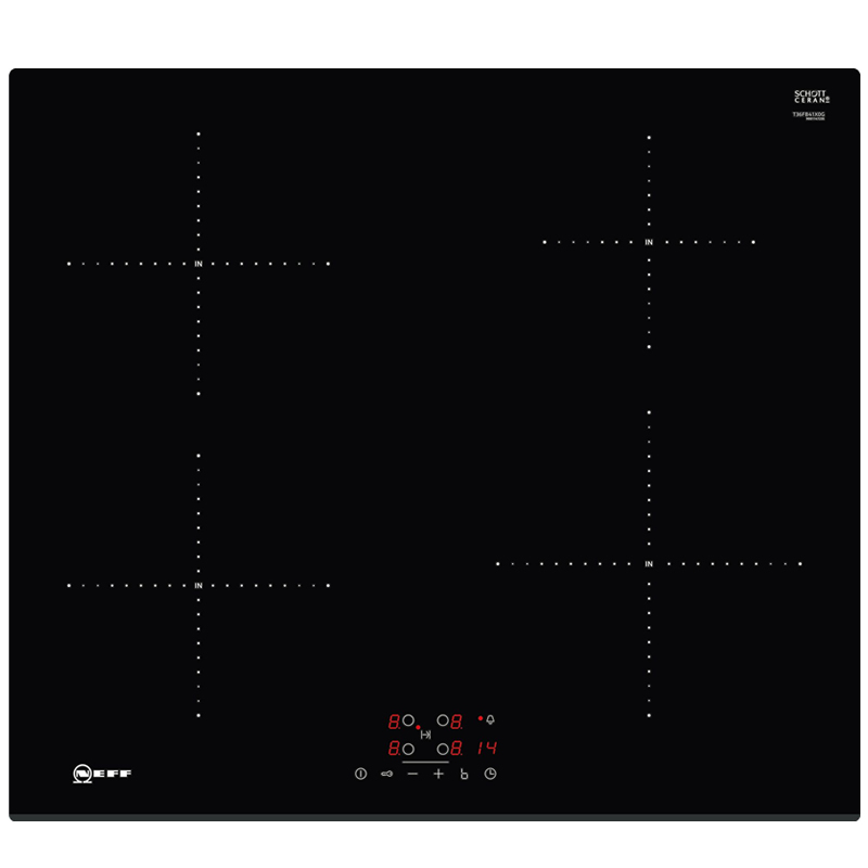 Induction Hob Touch Control Auto Pan Recognition LED