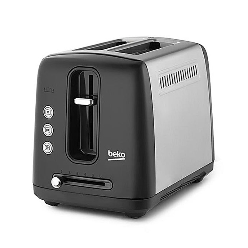 Image of 2-Slice Toaster Browning Control Black/Stainless