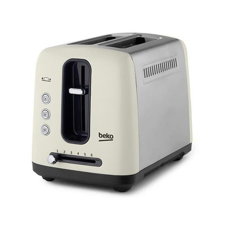 Image of 2-Slice Toaster Browning Control Cream/Stainless