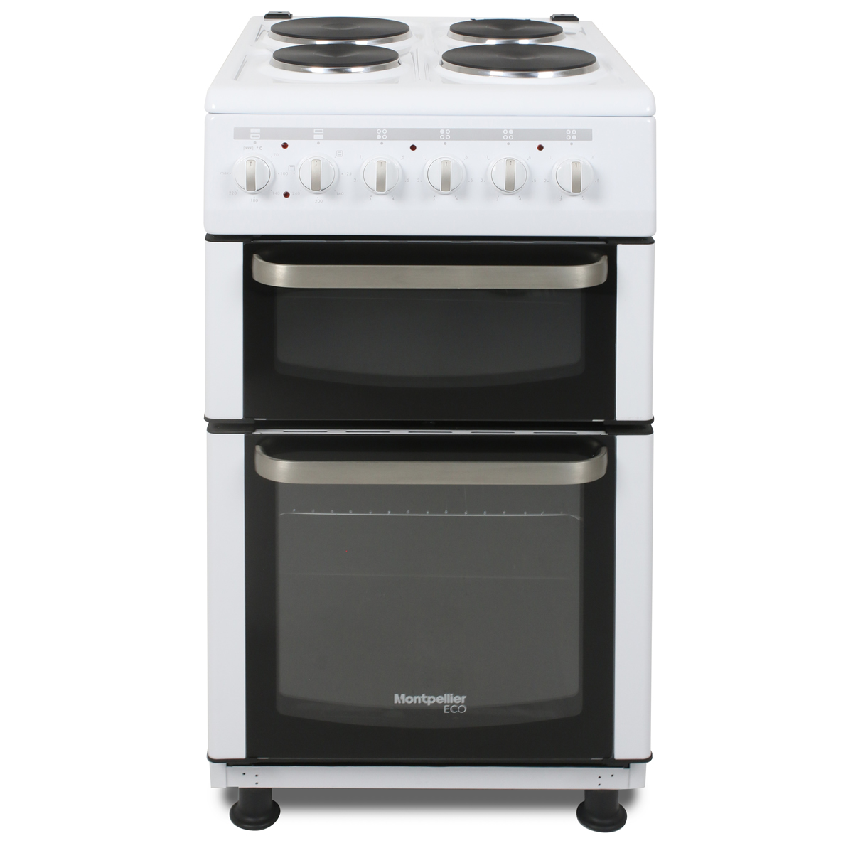 TCE51W-ECO 500mm Twin Cavity Electric Oven & Grill Solid Plate Hob