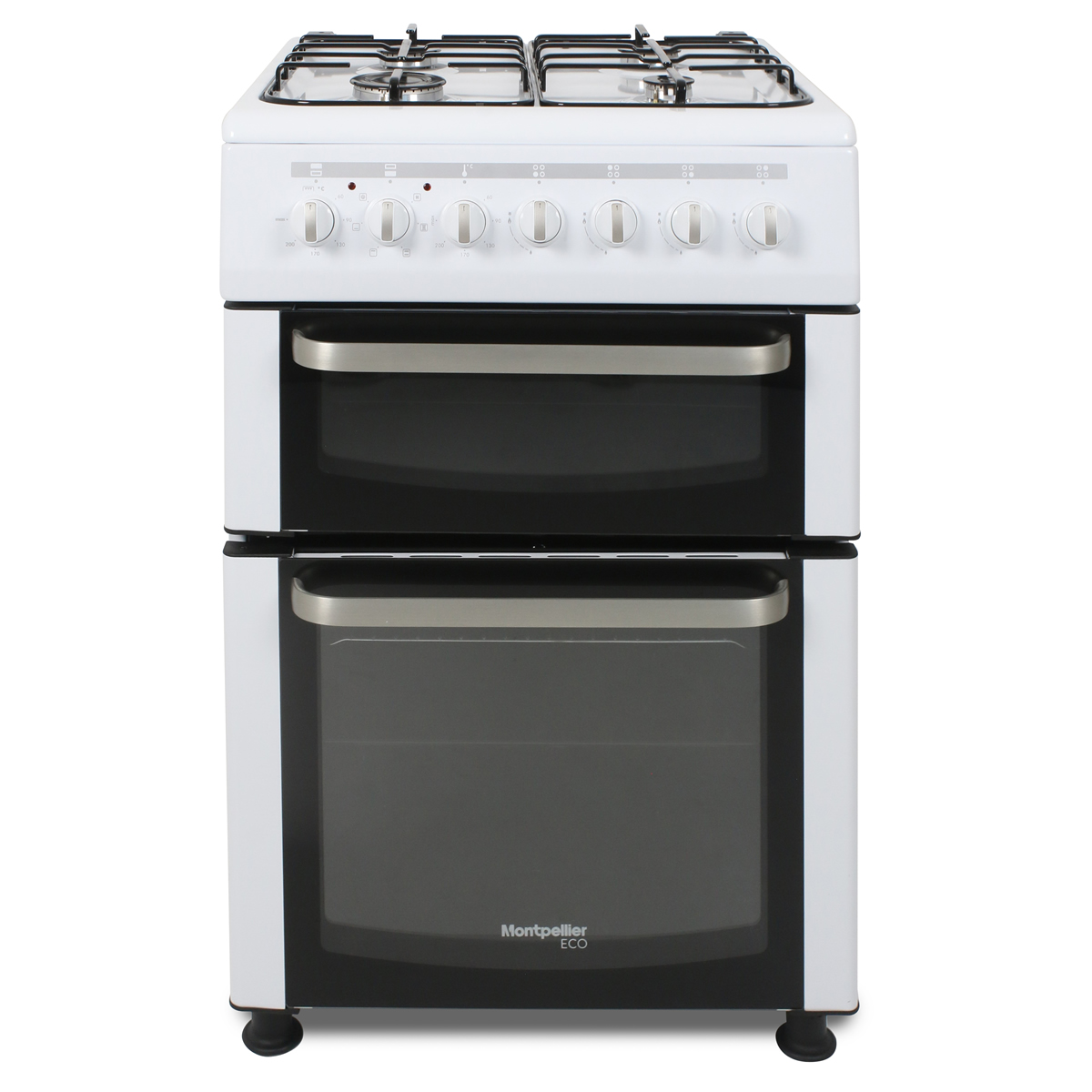 TDF60W-ECO 600mm Twin Cavity Dual Fuel Oven & Grill White