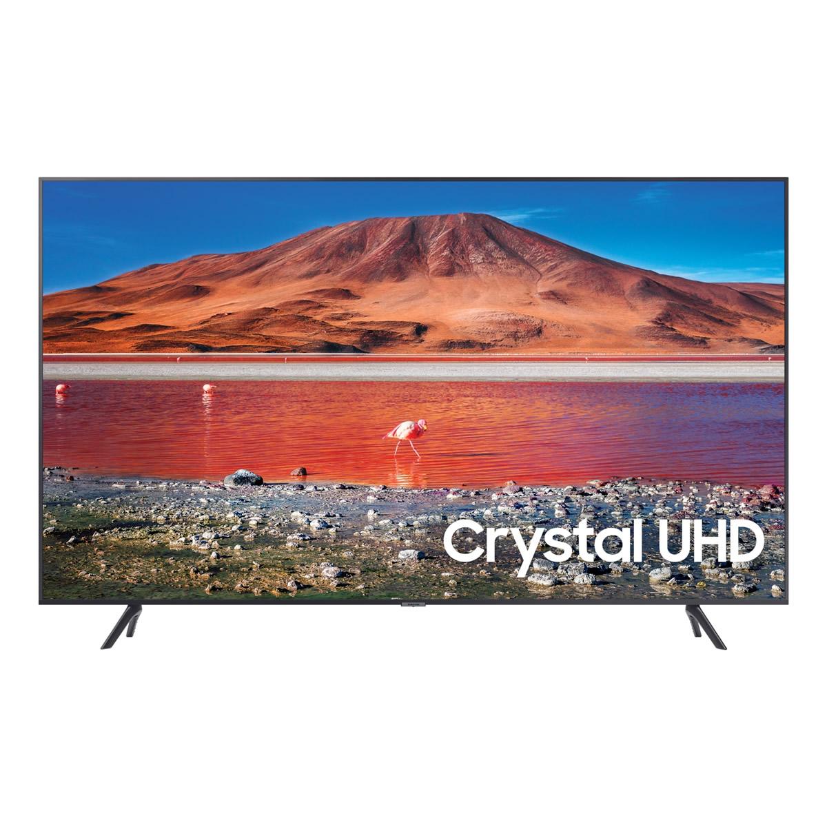 Samsung UE55TU7100 (2020) HDR 4K Ultra HD Smart TV, 55 inch with TVPlus, Silver
