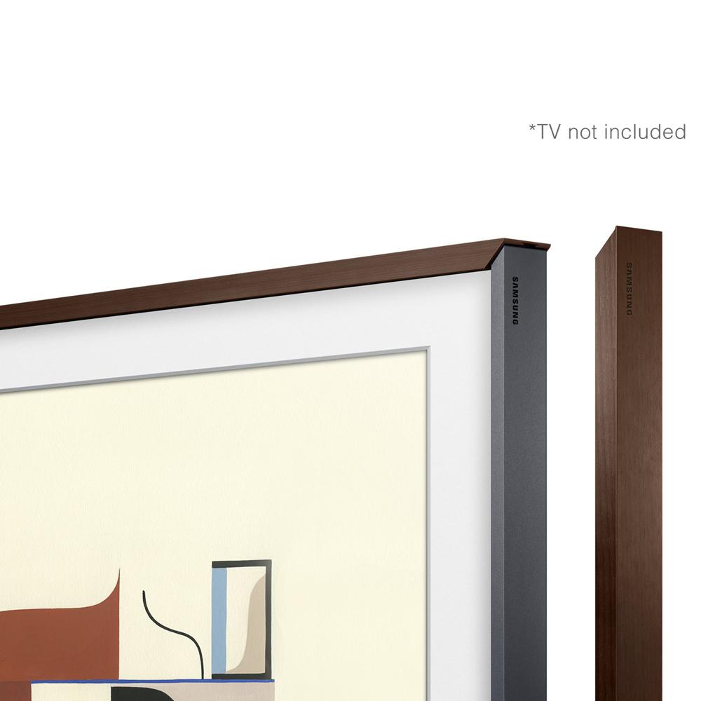 Image of Customisable Walnut Bezel for The Frame 43inch TV