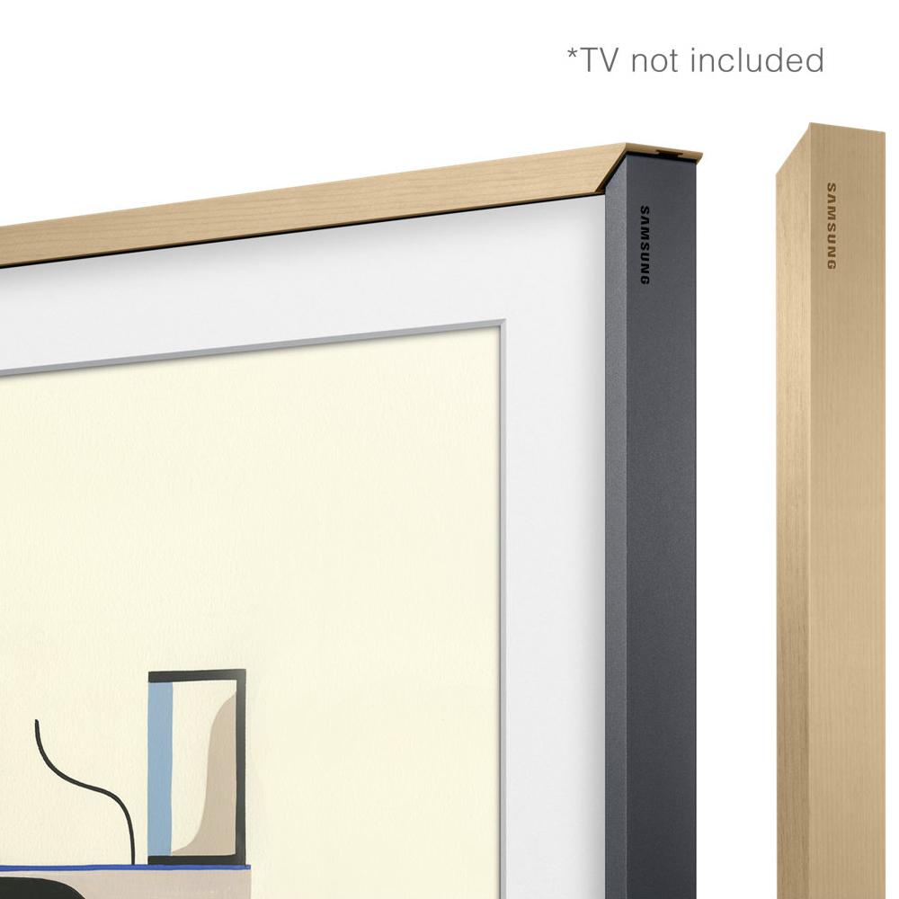 Image of Customisable Beige Wood Bezel for The Frame 43nch TV