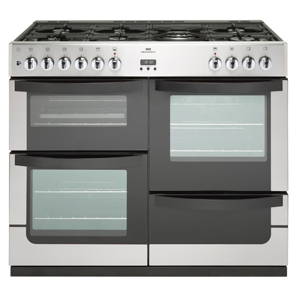 1000mm Dual Fuel Range Cooker 7 x Burners WOK S/Steel