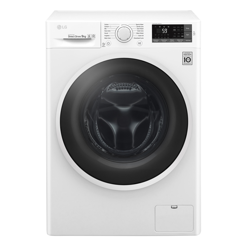1400rpm DD Washing Machine 9kg Load Class A+++ White
