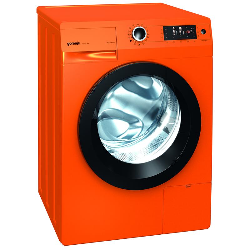 1400rpm Washing Machine 8kg Load Class A+++ Orange