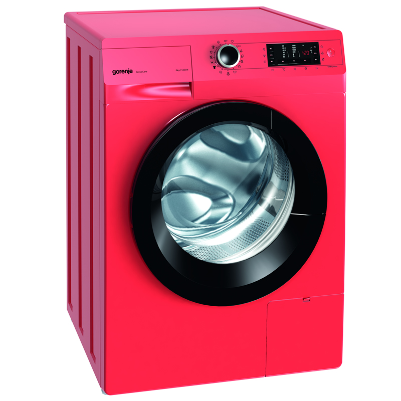 1400rpm Washing Machine 8kg Load Class A+++ Fiery Red