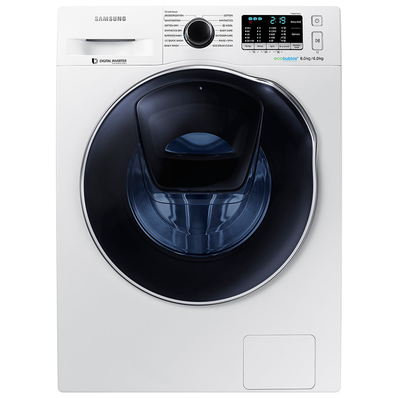 Image of 1400rpm AddWash™ Washer Dryer 8kg/6kg Load Class A