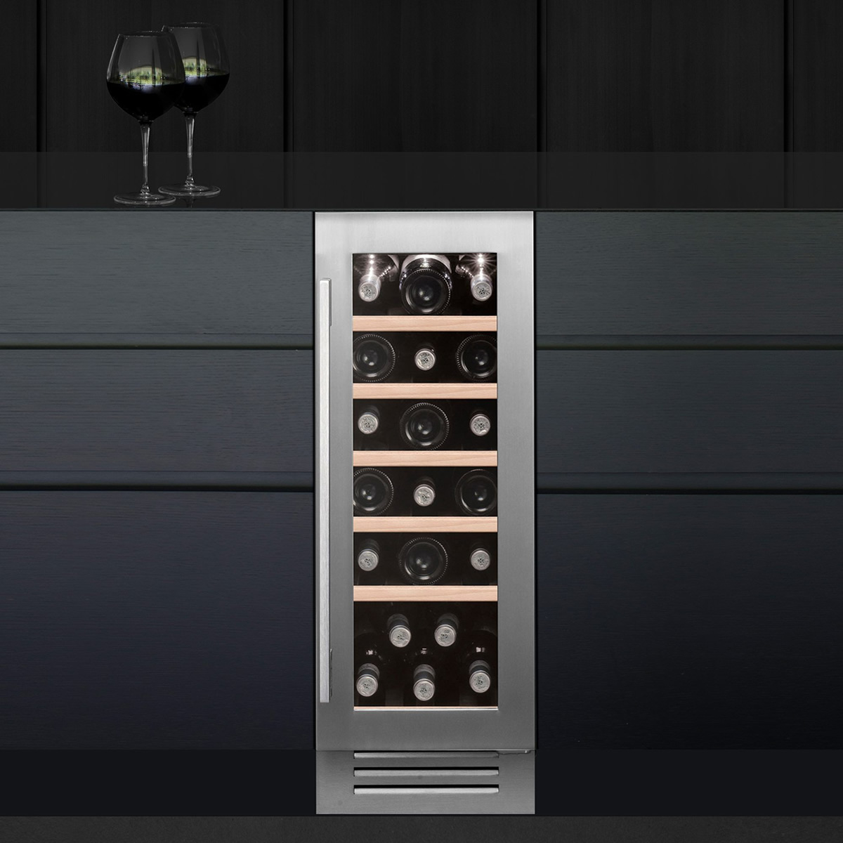19 Bottle Capacity Under-Counter Wine Cooler S/Steel