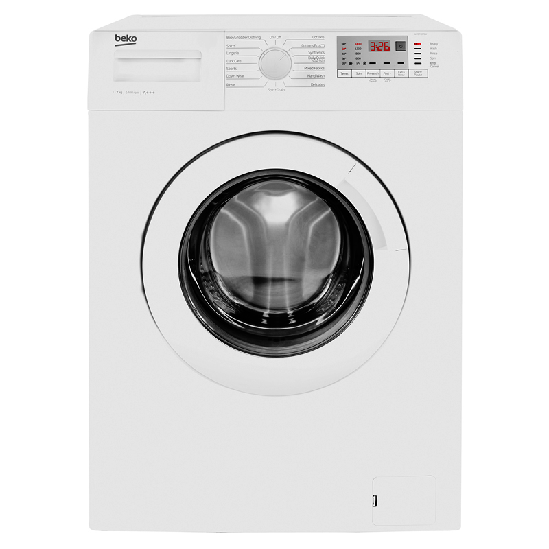 1400rpm Washing Machine 7kg Load Class A+++ White