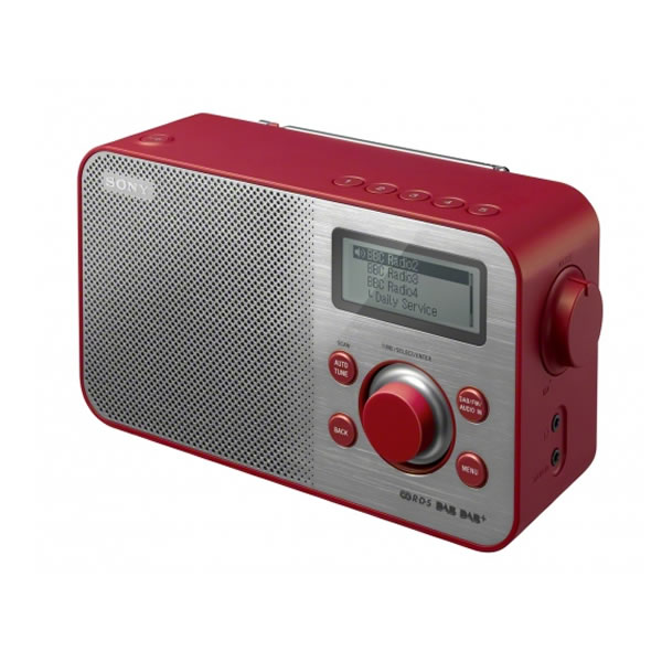Click to view product details and reviews for Dab Dab Fm Digital Radio Retro Design 10 Presets Red.