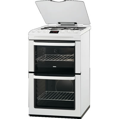 550mm Double Gas Cooker Gas Grill White