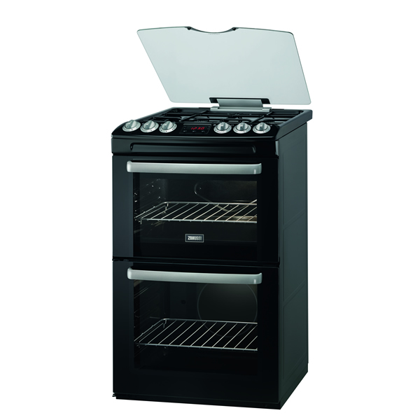 550mm Double Gas Cooker Gas Grill Black
