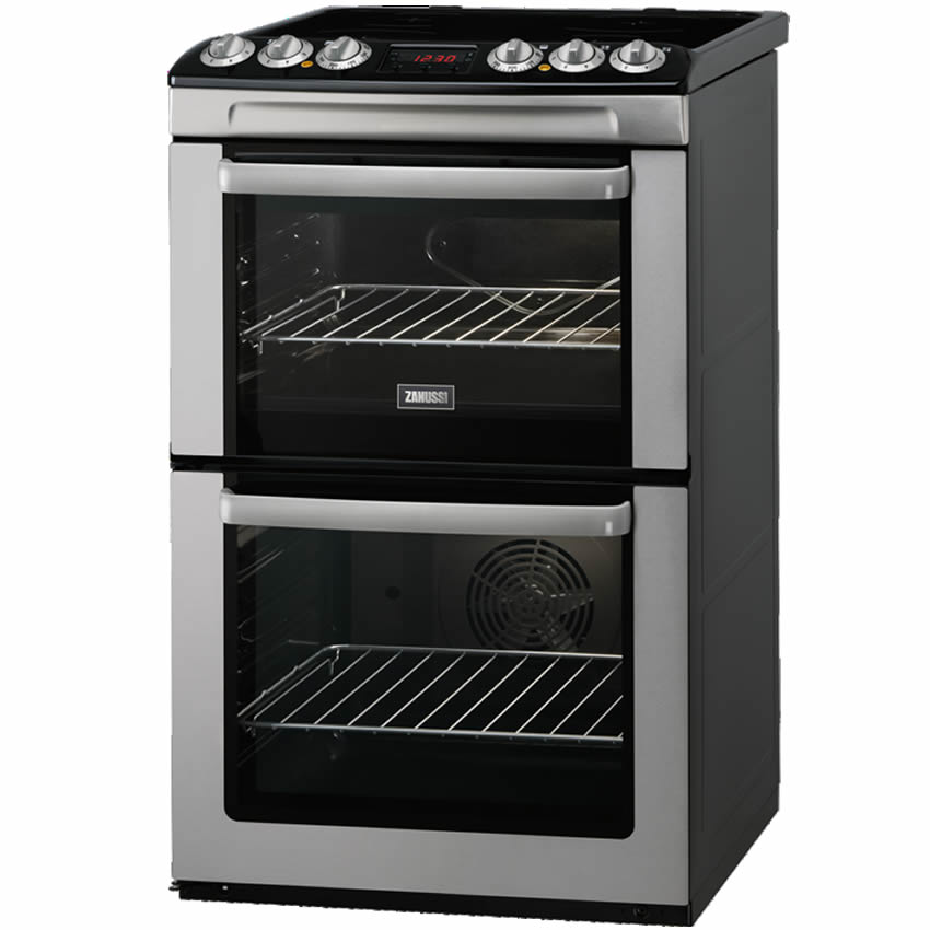 550mm Double Electric Cooker Ceramic Hob SSteel