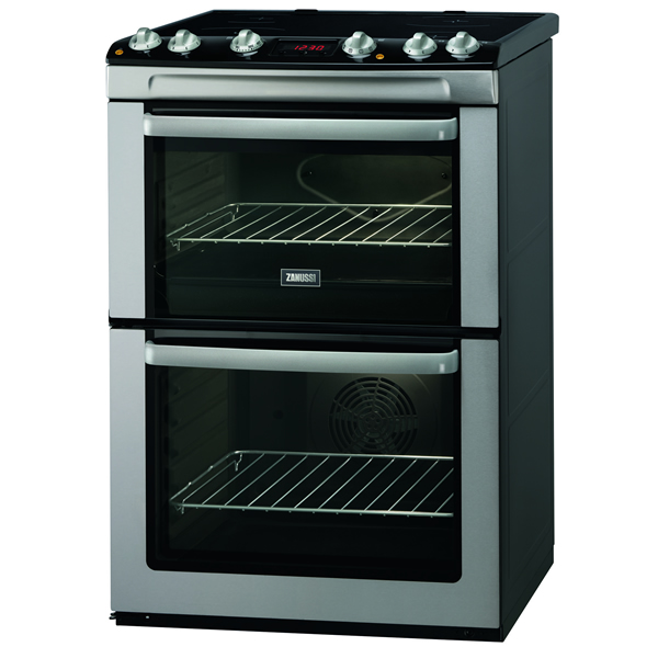 600mm Double Electric Cooker Ceramic Hob SSteel
