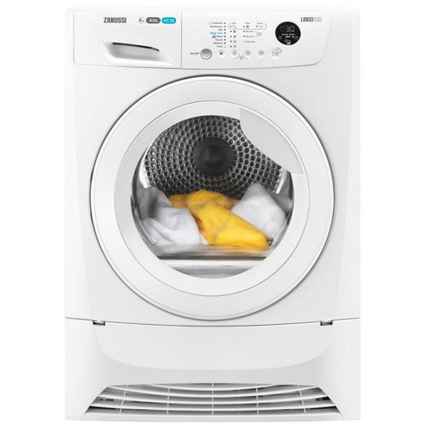 Zanussi ZDC8203WZ Condenser Tumble Dryer, 8kg Load, B Energy Rating, White