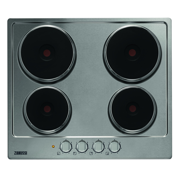 600mm Electric Hob 4 x Sealed Plates Stainless Steel