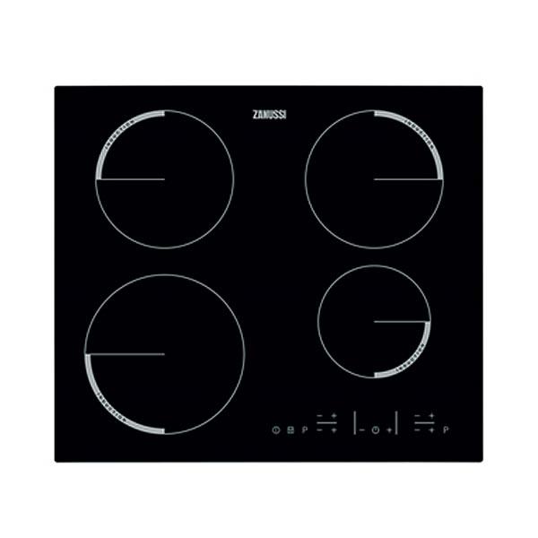 600mm Induction Hob 4 Zones Touch Control Black