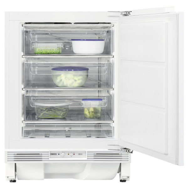 108litre Integrated Upright Freezer Class A White