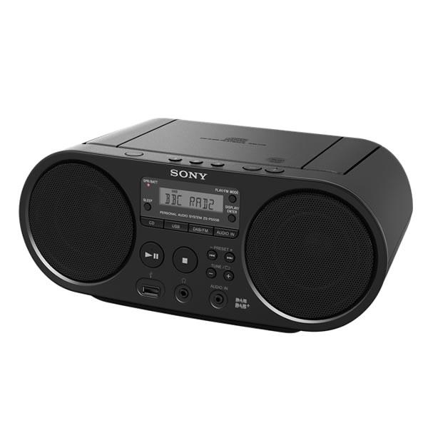 Sony ZSPS55B DAB/FM CD Boombox With USB Playback, Black